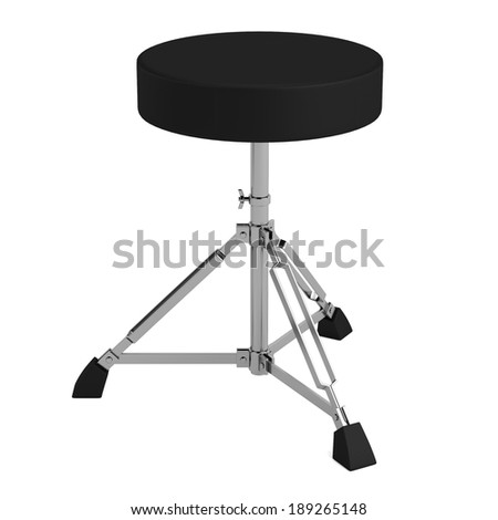realistic 3d render of drum chair - stock photo