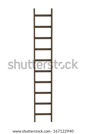 realistic 3d render of ladder