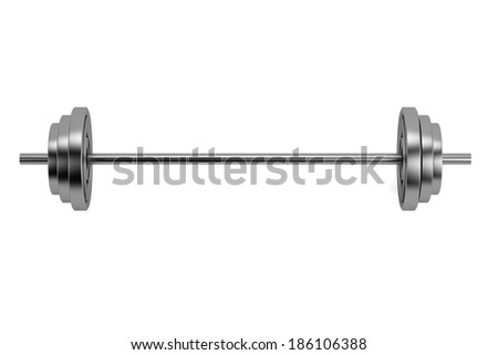 realistic 3d render of lifting weights - stock photo