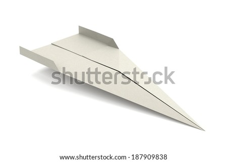 Paper Plane Made Graph Paper D Stock Illustration