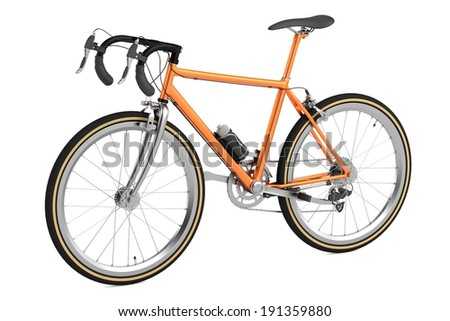 realistic 3d render of racing bicycle - stock photo