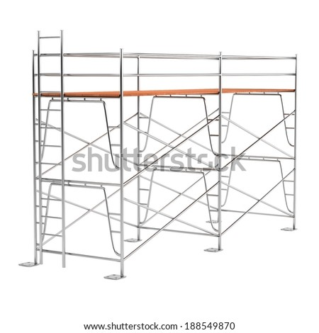 realistic 3d render of scaffolding - stock photo