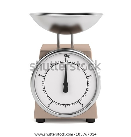 realistic 3d render of scales - stock photo