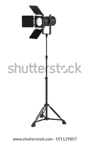 realistic 3d render of stage light
