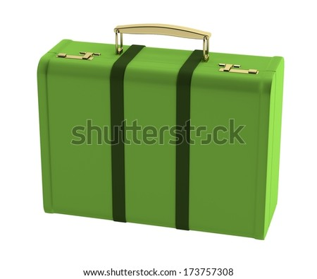 realistic 3d render of suitcase