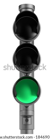 realistic 3d render of traffic lights