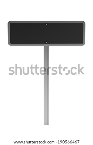realistic 3d render of traffic sign