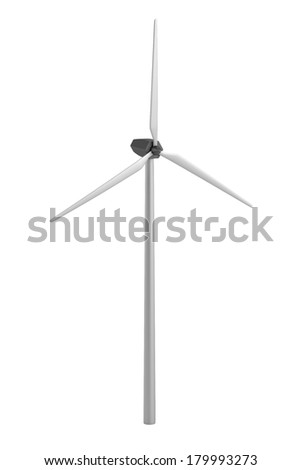 realistic 3d render of wind turbine