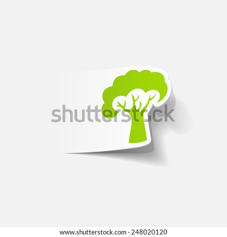 realistic design element: tree - stock photo