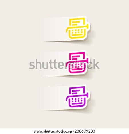 realistic design element: typewriter - stock photo
