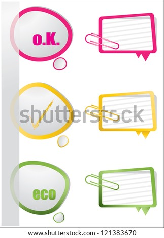 realistic design elements - stock photo