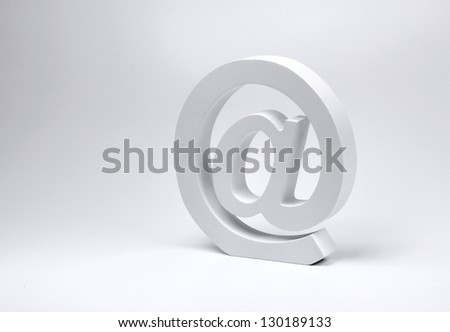 Realistic e-mail sign block letter email symbol