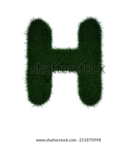Realistic Grass Letter H