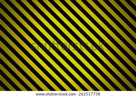 Realistic Grunge Rendering of Black and Yellow Warning Lines, illustration - stock photo