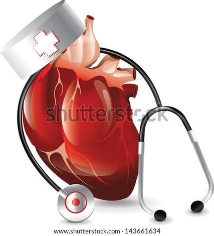 Realistic Heart Doctor bitmap copy - stock photo