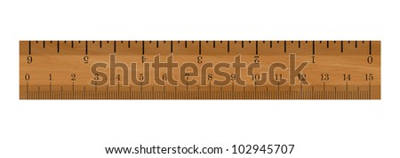 Realistic illustration of a ruler - Isolated on white background