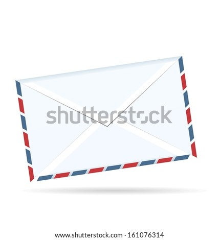 Realistic illustration of envelope of post isolated on white background - raster