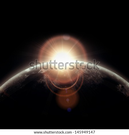 realistic illustration of planets in space. Elements of this image furnished by NASA