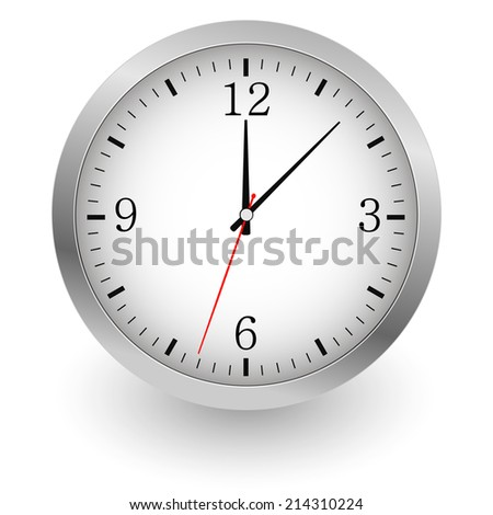 Realistic illustration of wall clock.