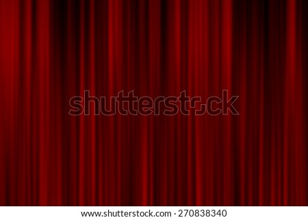 Realistic red curtain - stock photo