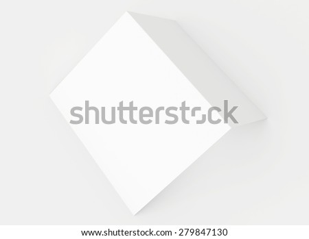 Realistic render bend blank paper. 3d render - stock photo