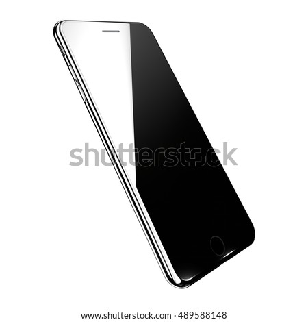 Realistic smartphone, 3d rendering illustration isolated on white