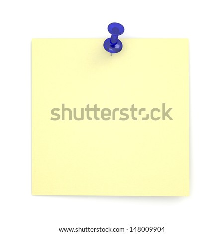 Realistic Sticky Note - stock photo