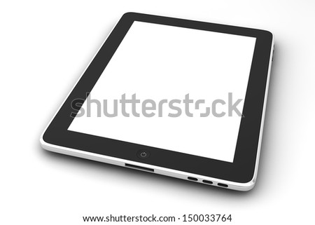 Realistic tablet pc computer - stock photo
