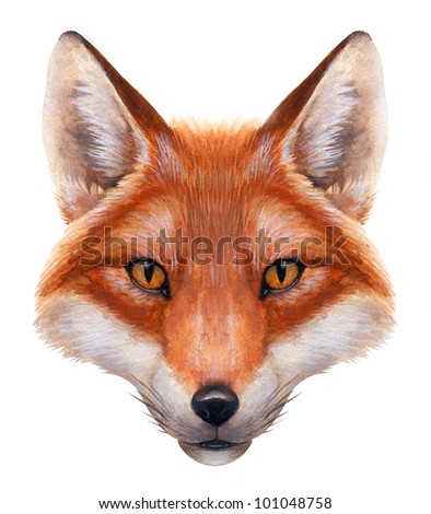 painting of a fox s he...