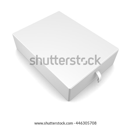 Realistic white blank package box isolated on white background. White container for Software, electronic device and other products. 3d render
