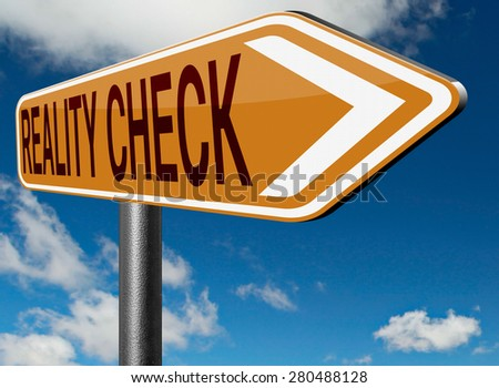 reality check up down to earth - stock photo