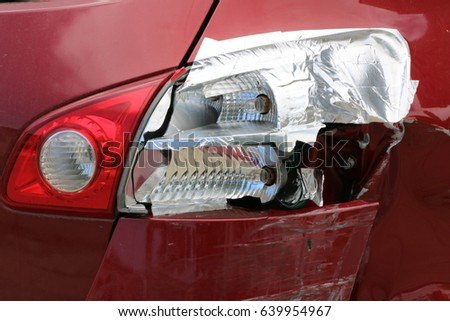 Car duck tail stock images royalty free images vectors shutterstock rear bumper and tail lights of a red car following a car accident bumper is aloadofball Image collections