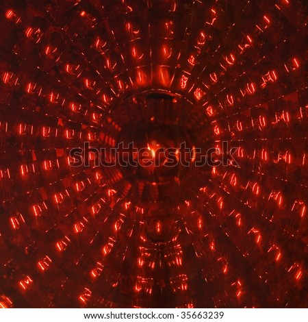 Rear Car Light against a neon backgroung - stock photo