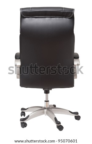 rear view boss chair isolated on white - stock photo