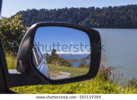 rear view mirror - stock photo