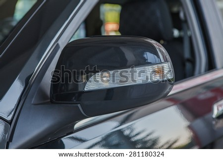 Rear-view mirror. - stock photo