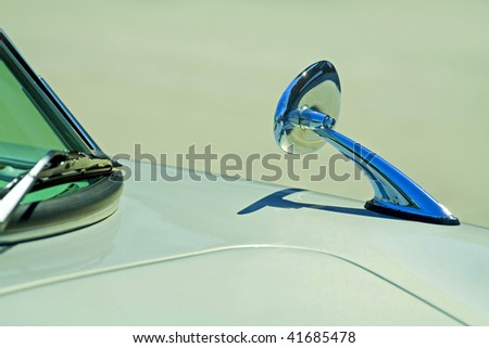 rear view mirror close up - stock photo