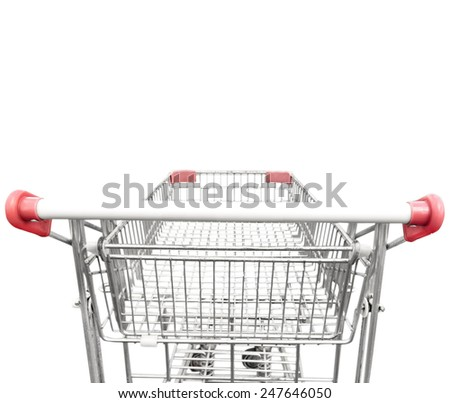 Rear view of a shopping cart  - stock photo