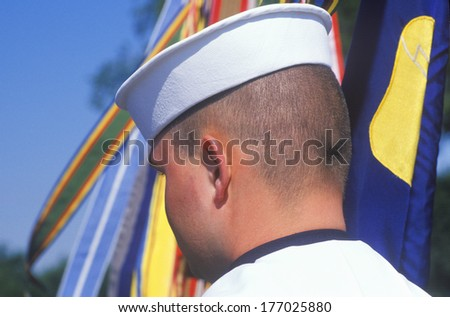 Rear View of Sailor, Desert Storm Victory Parade, Washington, D.C.