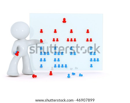 Rearranging the Org chart - stock photo
