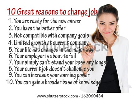 Reason to change job for human resources concept - stock photo