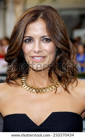 "Rebecca Budig at the Los Angeles premiere of ""Getaway"" held at the Regency Village Theatre in Westwood, California, United States on August 26, 2013."