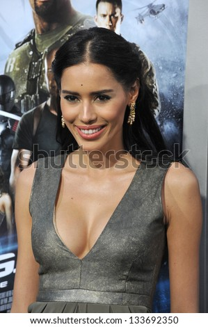 """Rebecca Da Costa at the Los Angeles premiere of """"G.I. Joe: Retaliation"""" at the Chinese Theatre, Hollywood. March 28, 2013  Los Angeles, CA Picture: Paul Smith / Featureflash - stock photo"""