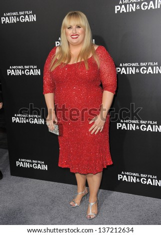 "Rebel Wilson at the Los Angeles premiere of her movie ""Pain & Gain"" at the Chinese Theatre, Hollywood. April 22, 2013  Los Angeles, CA"