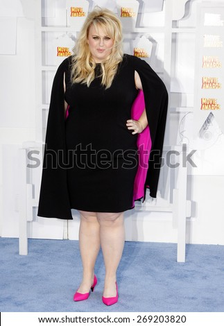 Rebel Wilson at the 2015 MTV Movie Awards held at the Nokia Theatre L.A. Live in Los Angeles, USA on April 12, 2015. C