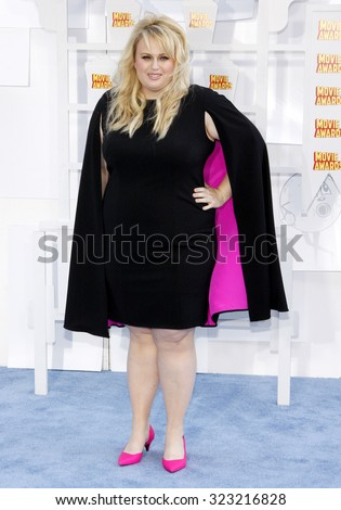 Rebel Wilson at the 2015 MTV Movie Awards held at the Nokia Theatre L.A. Live in Los Angeles, USA on April 12, 2015.
