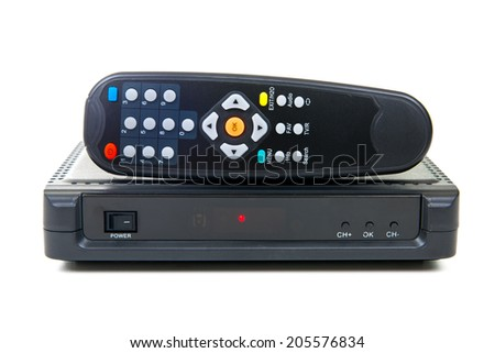 Receiver for satellite and remote control - stock photo