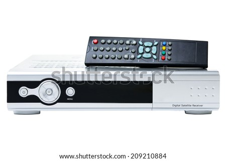 Receiver for satellite and remote control