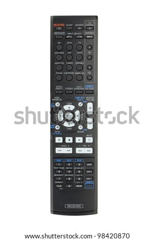 Receiver remote control. Isolated on white background - stock photo