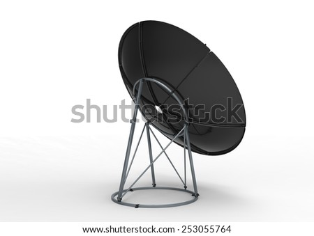 Receiver. Satelite dish close up on white background